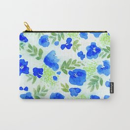 Floret (Blue) Carry-All Pouch