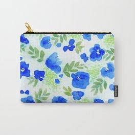 Floret (Blue) Carry-All Pouch