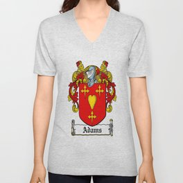 Family Crest - Adams - Coat of Arms Unisex V-Neck