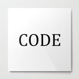 CODE Metal Print