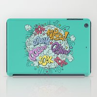 comic iPad Cases featuring comic brawl by Peter Kramar