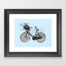 World Tour ~ Blue Framed Art Print