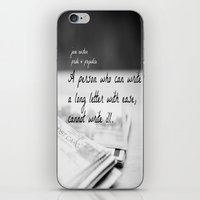jane austen iPhone & iPod Skins featuring Jane Austen Letter by KimberosePhotography