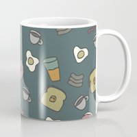70s Mugs featuring 70S Cafe by Calepotts