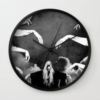 witchcraft Wall Clocks featuring Witchcraft by Merwizaur