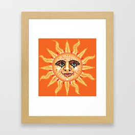 Happy Sun Bedazzled Framed Art Print