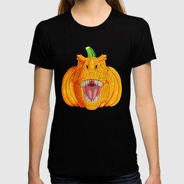 Halloween Pumpkin T-Rex  T-shirt