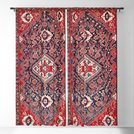 Qashqa'i Shishboluki Fars Southwest Persian Rug Print Blackout Curtain