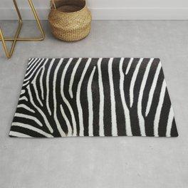 Close-up view of zebra stripes Rug