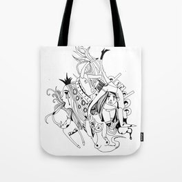 Visual Throwup Tote Bag