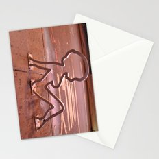 Lady Shape Bike Rack Stationery Cards