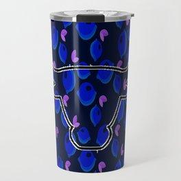 blue lemon Travel Mug