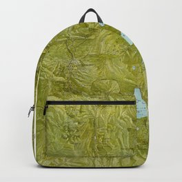 Map of Yellowstone 1898 Backpack
