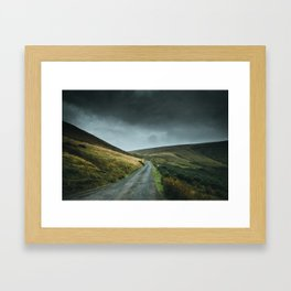 Road into the mountains Framed Art Print