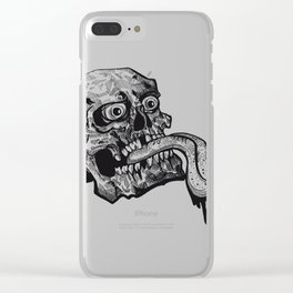 Skull with a Wicked Tongue Clear iPhone Case