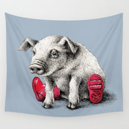 Piggy in Welly Wall Tapestry