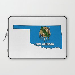 Oklahoma Map with State Flag Laptop Sleeve