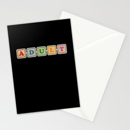 All Grown Up Letter Blocks Stationery Cards