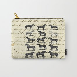 1895 Vintage Horse study Carry-All Pouch