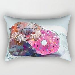 Otter Donut Rectangular Pillow