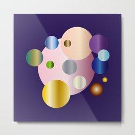 planetarium abstract geometrical design Metal Print