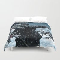 russia Duvet Covers featuring Ghosts of Mother Russia by Marcus Wild