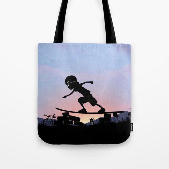 Silver Surfer Kid Tote Bag