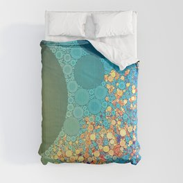 Sky and Leaves Comforters