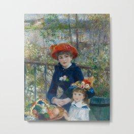 Pierre-Auguste Renoir - Two Sisters Metal Print