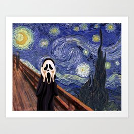 Scream Scary movie Art Print