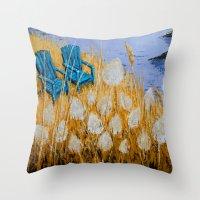 couple Throw Pillows featuring COUPLE by Olga Krokhicheva
