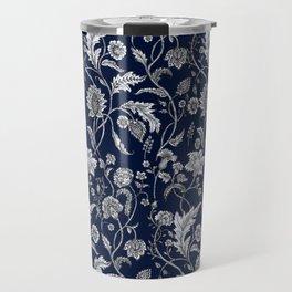 Blue Floral - 5 Travel Mug