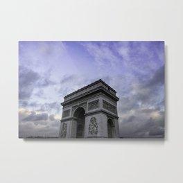 The Arc de Triomphe de l'Etoile with Classic Blue Sky Metal Print