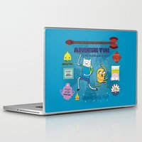 finn and jake Laptop & iPad Skins featuring Finn and Jake by ichigomomo