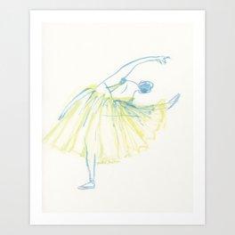 A Ballerina Art Print