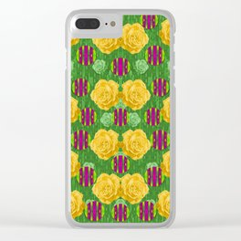 roses dancing on a tulip field of festive colors Clear iPhone Case