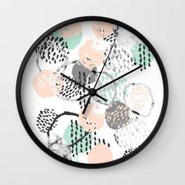 Brice - abstract minimal modern painting home decor minimalist art Wall Clock