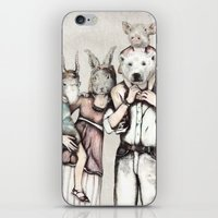family iPhone & iPod Skins featuring Family by RiversAreDeep