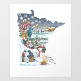 Minnesota Winter Art Print