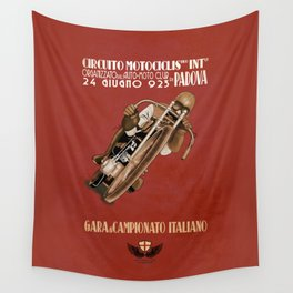 Italian Motorcycle Championship Race Wall Tapestry