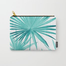 Fan Palm Leaves Jungle #3 #tropical #decor #art #society6 Carry-All Pouch