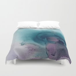 Teal Ultra Violet Vortex Duvet Cover