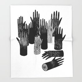 The Forest of Hands Throw Blanket