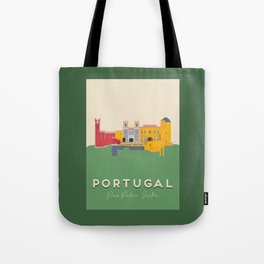 Pena Palace, Sintra, Portugal Travel Poster Tote Bag