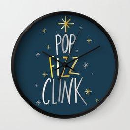 POP FIZZ CLINK CHRISTMAS Wall Clock