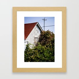 Orange Barn Framed Art Print