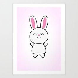 Cute Rabbit / Bunny Art Print