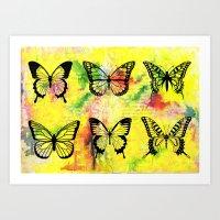butterflies Art Prints featuring Butterflies by ShaMiLa