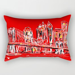 Brace yourselves she's from Brooklyn!! Rectangular Pillow