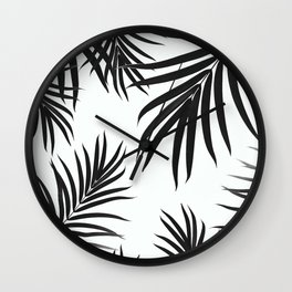 Palm Leaves Pattern Summer Vibes #2 #tropical #decor #art #society6 Wall Clock